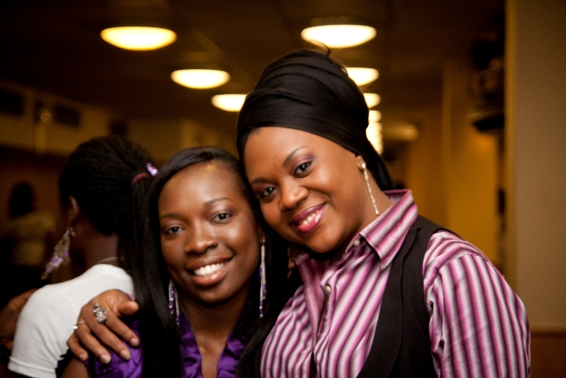 Bunmi Ayeni and Stella Damasus