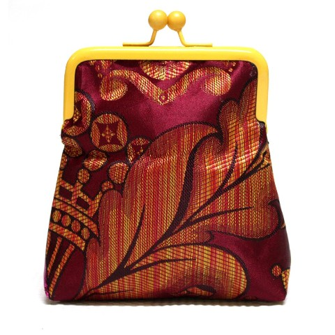 Maroon Damask Pico Pouch