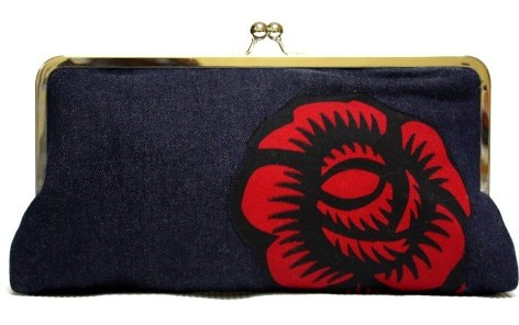 Denim Mega Snap Clutch